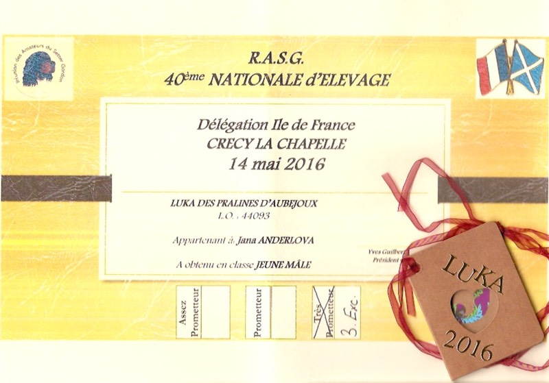3. Exc - Nationale d´Elevage RASG (F)